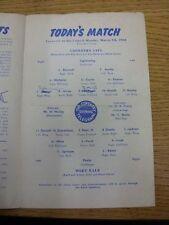 07/03/1960 Coventry City v Port Vale (cuatro páginas, cambios de equipo, pequeñas muescas, Li