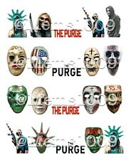The Purge nail art (Water Decals) Horror Film nail art Horror Movie Nail Art