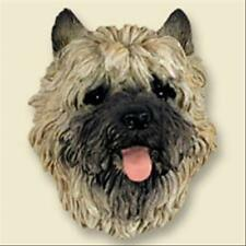 Cairn Terrier Red Dog Head Painted Stone Resin Magnet