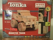 Tonka Monster Truck Wood Model Kit w/ Working Wheels 70+ Pieces EZ Build System