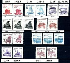 Transportation Coils Variety Set 20 Different MNH Scott's See Listing For Types