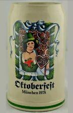 Vintage 1978 Oktoberfest Beer Stein - The Very First Official Jahreskrug