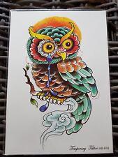 Beauty Dio di Gufo impermeabile adesivo Tatuaggi temporanei tatuaggio Flash Art