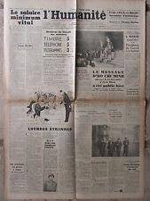 L'Humanité - (27 déc 1946) Salaire minimum vital - Tarifs postaux - Ho Chi Minh