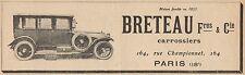 Y7269 Breteau & C. - Pubblicità d'epoca - 1923 Old advertising