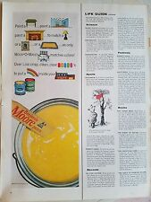 1963 Benjamin Moore Can Yellow Paint Stir Stick Color Ad