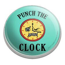 Punch The Clock Funny Humor Golfing Premium Metal Golf Ball Marker