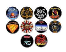 10 x Power Metal band buttons (badges,pins,helloween,gamma ray,running wild)