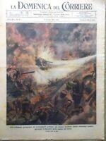 La Domenica del Corriere 8 Ottobre 1944 WW2 Isola Peleliu Giappone Carri Armati