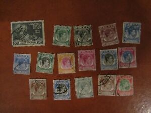 USED GEORGE VI STAMPS FROM MALAYA