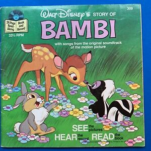 VINTAGE DISNEY - BAMBI  BOOK AND RECORD 1977