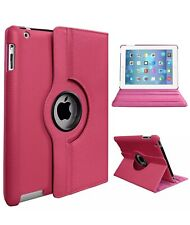 Apple iPad 2 3 4 Folio Leather 360 Rotating Stand Smart Case Cover
