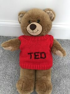 Teddy Bear Sleeveless Red Jumper With TED Motif
