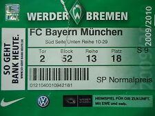 TICKET 2009/10 SV Werder Bremen - Bayern München