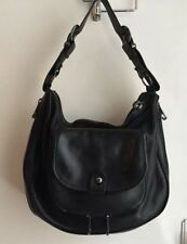 Ted Baker Large Black Leather Hobo with Zip Details, nearly New, dust bag