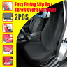 Car Seat Covers Slip On Throw Over Pair Black Easy Fitting FREE SHIPPING AU