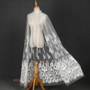 Antiquity Hanfu Cloak Cape Thin Cloak Peacock Elegant Fairy Sunscreen Retro Lace