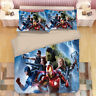 Single/Double/Queen/King Bed Doona/Quilt/Duvet Cover Set Pillowcase The Avengers