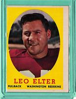 1958 Topps Football #25 Led Elter ExMt.