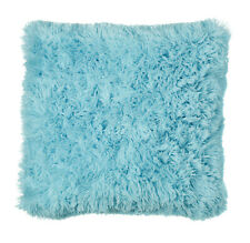 "Duck Egg CUDDLY Cosy Super Soft Shaggy Pile Faux Fur Warm Cushion Cover 18"" 45cm"