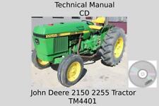 John Deere 2150 2255 Tractors Technical Manual Tm4401 On Cd