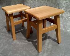 Set x2 Solid Beech Wooden Step Stool