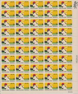 1381 Professional Baseball 100th Anniversary MNH 6 c Sheet of 50 FV $3.00 1969