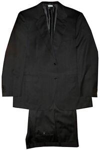 $5500 NEW TAILORED BRIONI SENATO DARK CHARCOAL SUPER 150'S 2 BUTTON SUIT 44 46