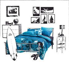 Blue QUEEN QUILT COVER SET + EUROS  +Cush cover Shark OFFSHORE JINX LINEN HOUSE