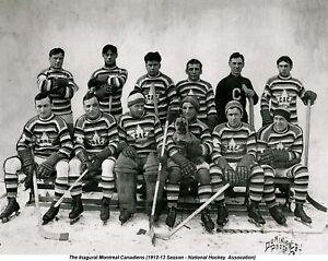 Canadiens 1912-13 (Inagural Team) - 8x10 B&W Photo