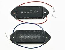 Black P90 High Power Sound Neck&Bridge Dogear Pickup Soapbar Pickups Set