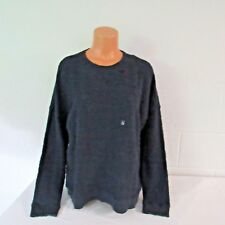 Ambercrombie & Fitch 100% Cotton Crewneck Sweatshirt Navy L NWT