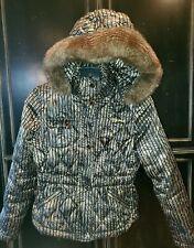 Baby Phat Feather Down Winter Coat W/ Fur Around Hood Multicolored, size Medium