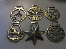 Lot of 6 Brasses for mule harness or decor Vgc