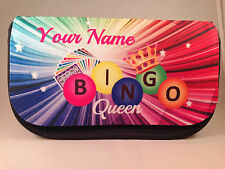 Personalised Bingo pencil case / dabber bag - any name great gift, Christmas