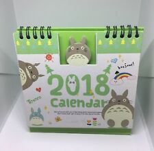ToToRO My Neighbour 2018 Desktop Calendar Diary Studio Ghibli New Year Gift