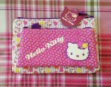 Hello Kitty Vintage Floral 2 Piece Cosmetic Bags in Canvas Sap Material