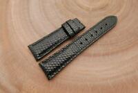 22mm/18mm Black Genuine LIZARD Skin Leather Watch Strap Band