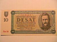1943 Slovak State 10 Korun SPECIMEN Gem CU World Paper Money Slovenska Banknote
