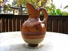 Large Decorated Clay Pitcher. Made in Mexico. Jarra de Barro Decorada Grande.