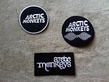 SET OF THREE HEAVY METAL PUNK ROCK MUSIC SEW ON / IRON ON PATCHES- ARTIC MONKEYS