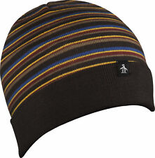 335affd47fc Original Penguin Striped Boreal Beanie Hat Mens Womens Warm Knit Fashion