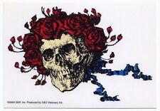 GRATEFUL DEAD skull & roses (transparent) STICKER **FREE SHIPPING** -c s3016c