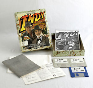 Lucasfilm Indiana Jones and the Last Crusade ADVENTURE Big Box PC 3.5 1989