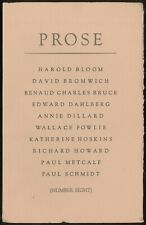 Edward DAHLBERG, Paul Metcalf / Prose Eight 8 1974