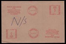 1972 Stationery. Pitney-Bowes Specimen of the 3d. Machine mark; Jersey. E1142