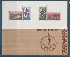 Dahomey  bloc  jeux olympiques de Mexico   de 1968   num:  15  **