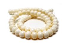 8 mm Round Bone Beads (16 inches)