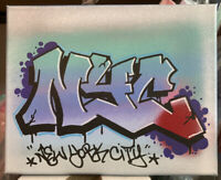 NYC Graffiti Painting 8 x 10 Spray Paint Marker On Canvas Original