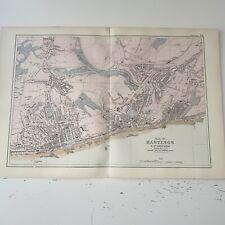 c1889 Hastings British Isles Map Bacon Antique Vgc